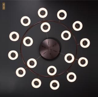 新特丽大卫艺术吊灯客厅装饰圆形可旋转灯头吊灯