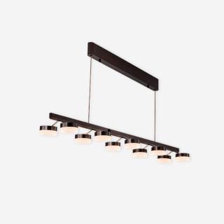 新特丽大卫艺术吊灯客厅餐桌装饰方形可旋转灯头吊灯触摸调光