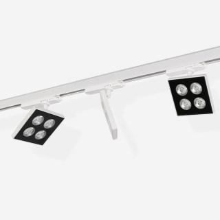 inlight SLIM纤美TRS超薄方形防眩高显色可调角度导轨射灯 导轨安装18W 3000k/4000k