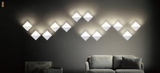 天地艺术个性创意搭配组合方形壁灯 壁面安装10W 3000k 家居
