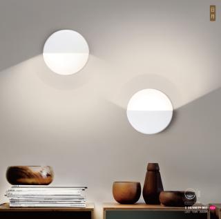 日月艺术个性创意搭配组合圆形壁灯 壁面安装10W 3000k 家居