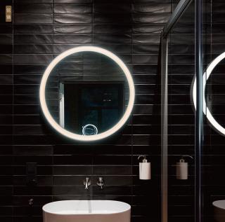 铭镜艺术壁灯圆形镜灯化妆灯 壁面安装16w/21w 3000k 家居卧室浴室