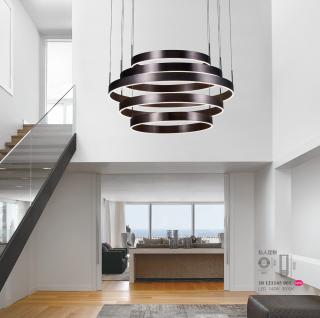 天际艺术装饰圆环型吊灯 悬吊安装 142w 3000k 家居