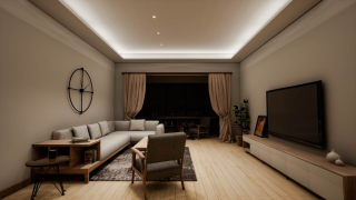 家居-客厅-无主灯设计