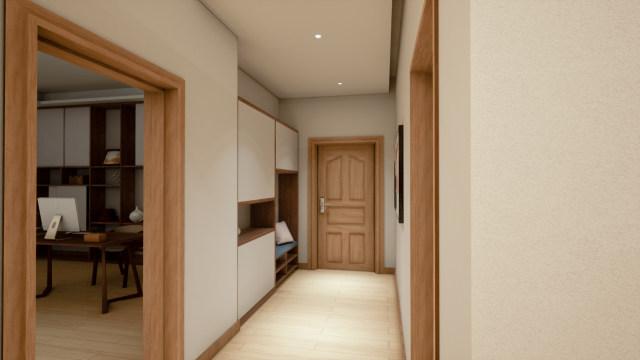 家居-玄关-无主灯设计