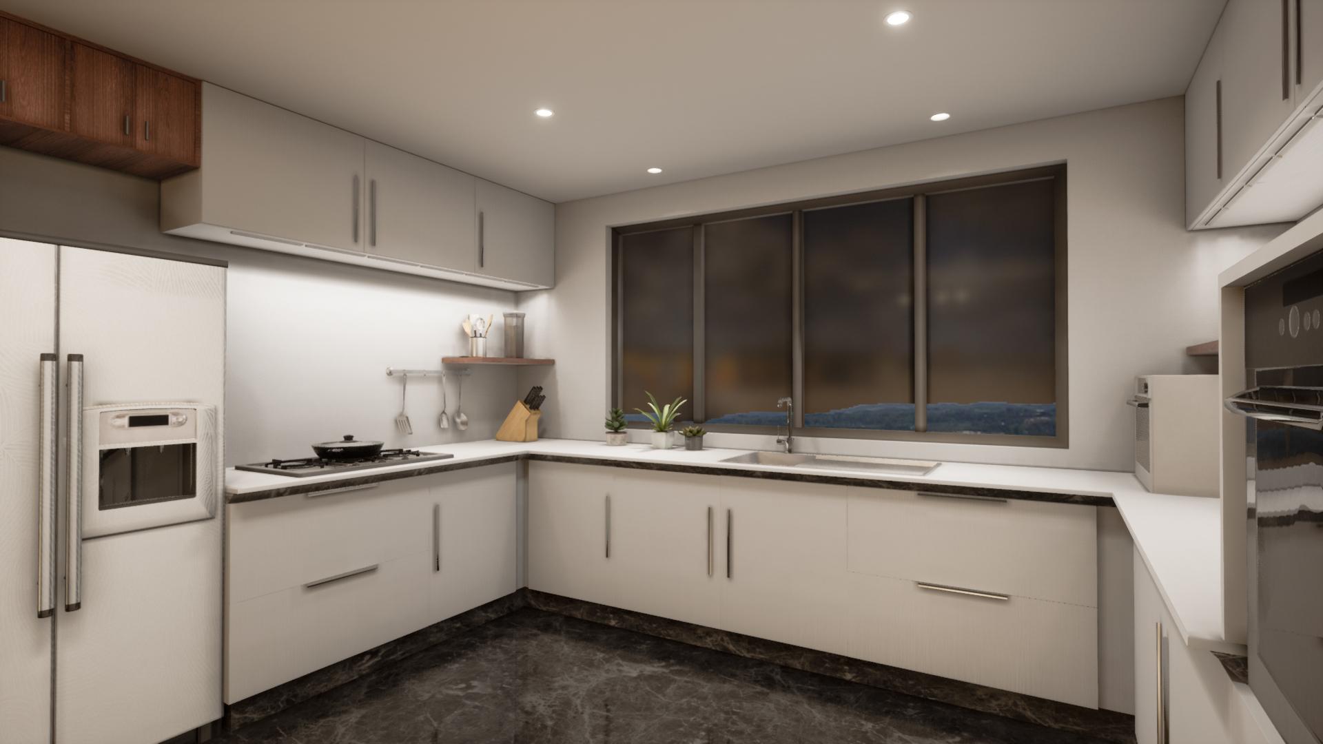 家居-厨房-无主灯设计