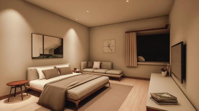 家居-卧室 无主灯设计