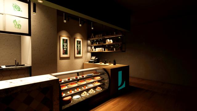 餐饮店-收银服务区-装饰型