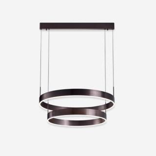 天际艺术装饰双圆环型吊灯 悬吊安装 53w 3000k 金色/棕色