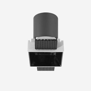 雅致系列深藏防眩定向下照可拼接无边框格栅射灯 嵌入式开孔87*87mm 15W 家居商业