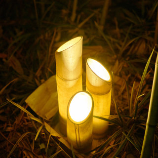 BAMBOO 竹子庭院花园装饰草坪灯 地面安装 7w/9w