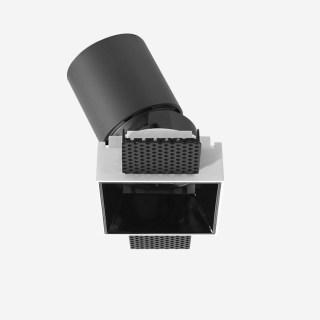 雅致系列深藏防眩可调斜照可拼接无边框格栅射灯 嵌入式开孔87*87mm 15W 家居商业