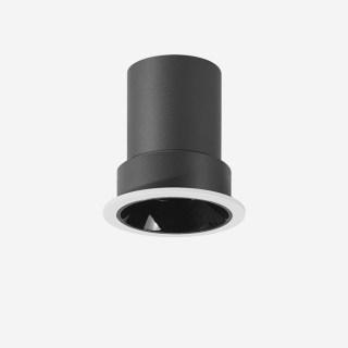 雅致系列深藏防眩可调光定向下照敞口圆弧环筒灯 嵌入式开孔65mm 7W 家居