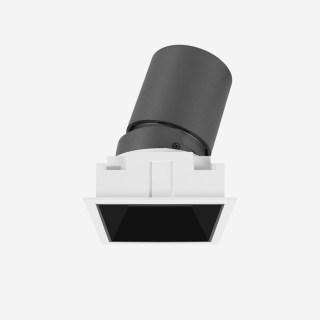 雅致系列深藏防眩可调斜照格栅射灯可拼接射灯 嵌入式开孔67*67mm 7W 家居