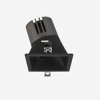 赫拉系列斜照方形敞口高显防眩可调光射灯 天花嵌入式 5W/7W/9W 3000k/4000k