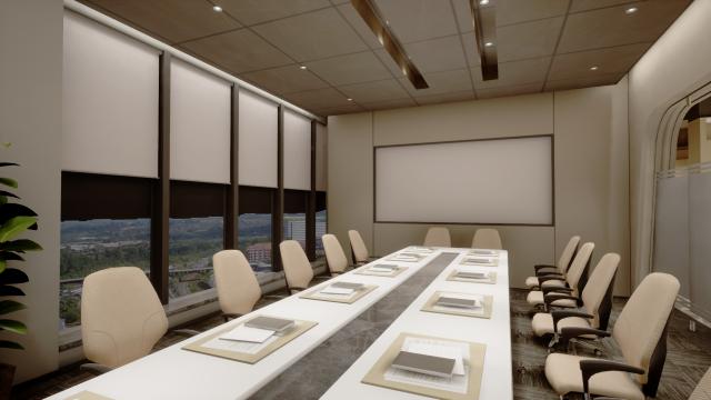 办公室-会议室-简洁型(下照)