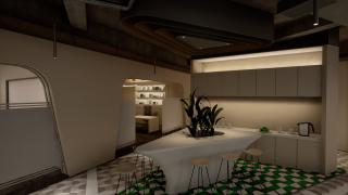 休闲区简洁型灯光设计方案