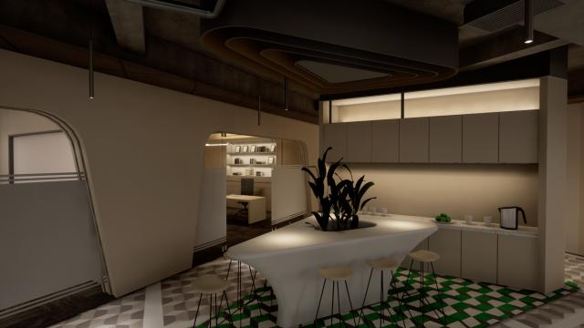 休闲区装饰型灯光设计方案