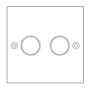 Lightopia 可控硅双路旋钮开关Z572