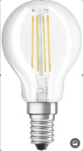 欧司朗星亮LED灯丝灯 4W/2.8W 透明 E14 直径/45mm/35mm