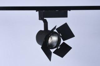 KAKA TK042 三线轨道射灯带防眩罩 商用 显指90 高P无频闪 30W/35W  黑色24°