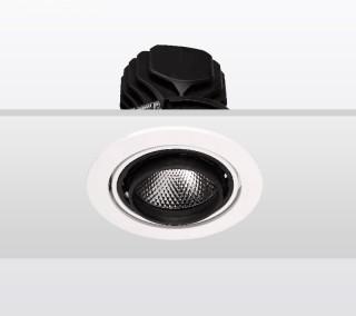 单头圆形嵌入射灯20W黑色3000K/开孔112mm